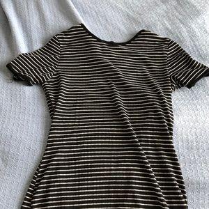 Striped tee shirt dress